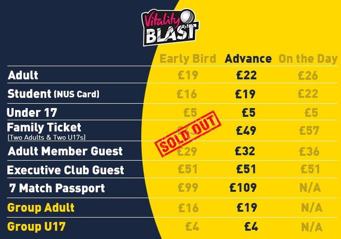 Vitality Blast Tickets | The Ageas Bowl · The Ageas Bowl