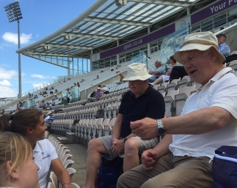 Hampshire Cricket in the Community Youth Ambassadors at an Ageas Bowl Dementia Day