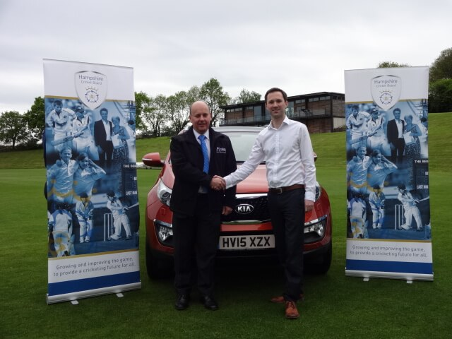 Nick Evans (Viking Kia MD), Ben Thompson (HCB Director) and the Kia Sportage