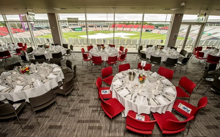 The expansive Ageas Suite ahead of England v Australia in 2015
