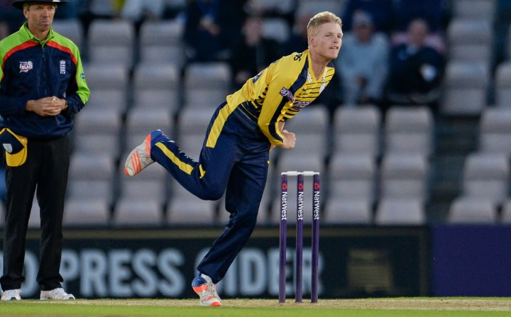 Taylor in action in the 2016 T20 Blast against Sussex at the Ageas Bowl
