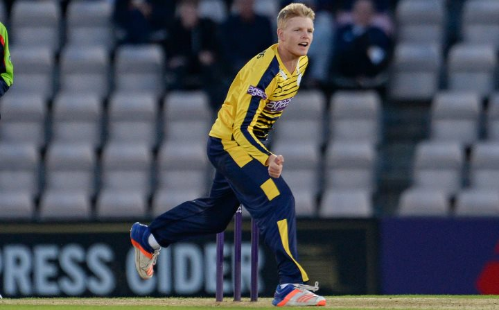 Taylor fires down a delivery in Hampshire's T20 Blast campaign in 2016