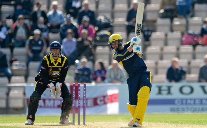Vince smashing an unbeaten 89 against Gloucestershire in the 2017 Royal One-Day Cup
