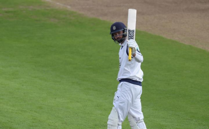 Vince hits a crucial half-century against the County Champions Essex in 2017