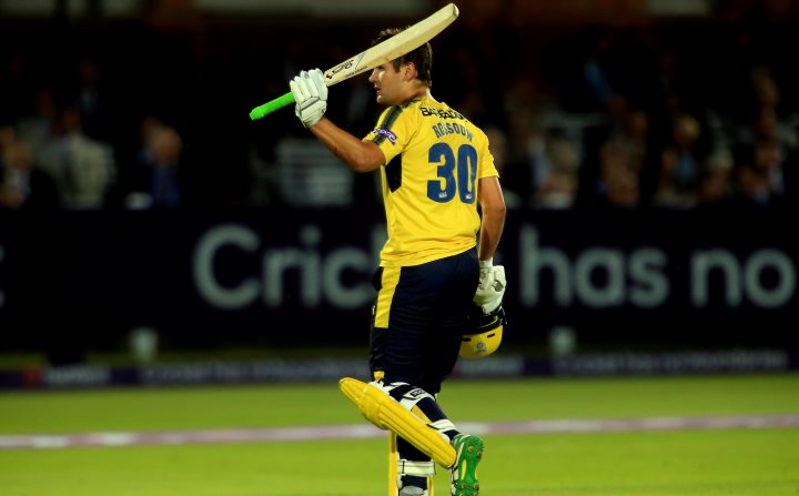Rossouw walks off after scoring a match-winning half-century against Middlesex at Lord's in the 2017 T20 Blast