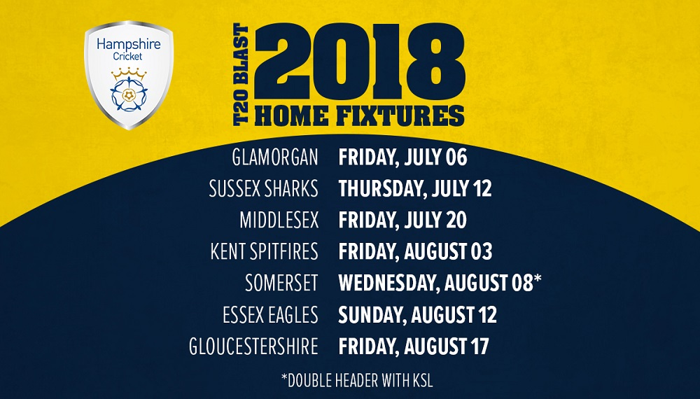 2018 T20 Blast Fixtures Announced · The Ageas Bowl